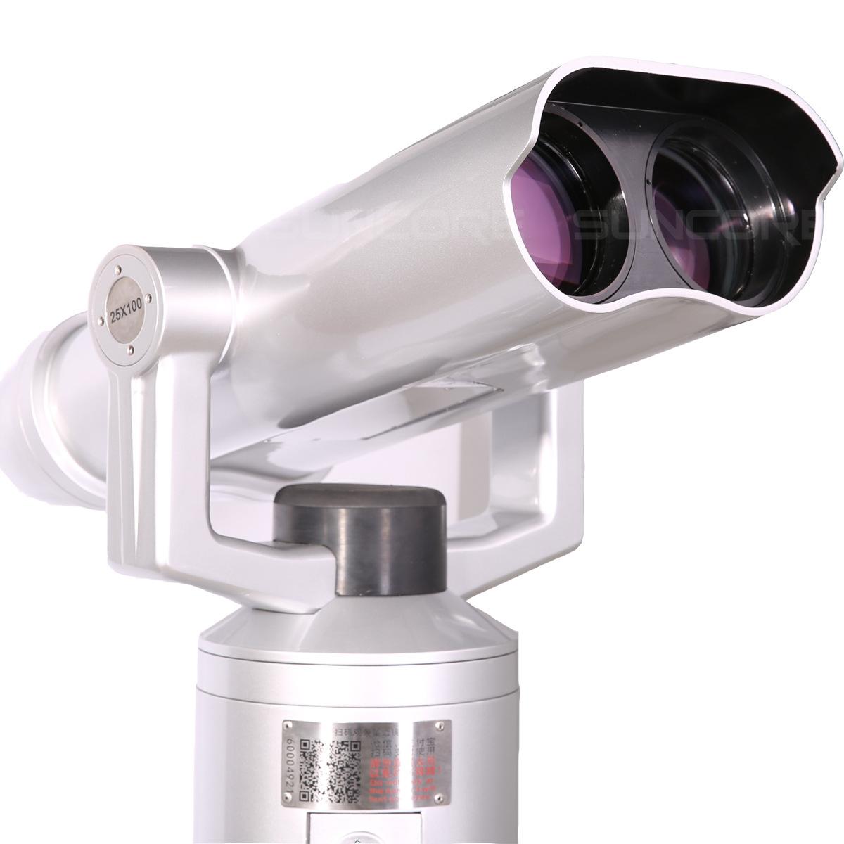 SUNCORE舜光 景区扫码共享望远镜 投币望远镜25X100高清哨所镜 观景望远镜