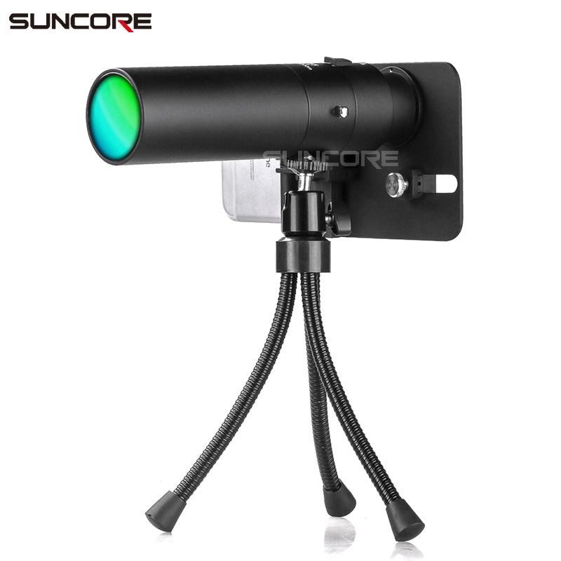 SUNCORE舜光8X35金属单筒直筒手机拍照望远镜大目镜