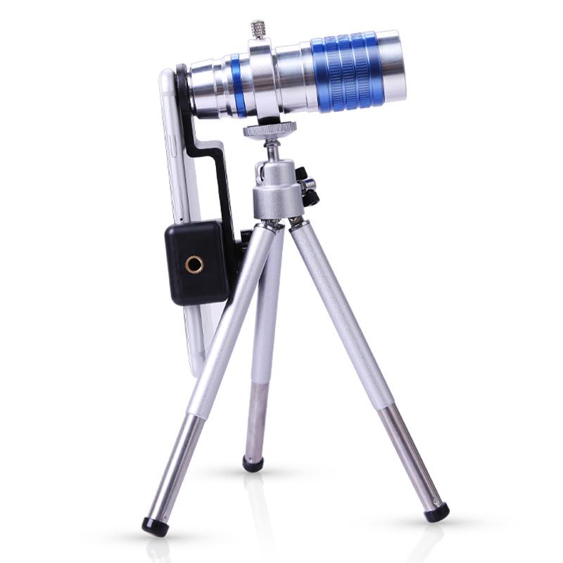 舜光通用手机长焦镜头全金属单筒拍照望远镜高清12倍高倍长焦手机镜头拍照录像