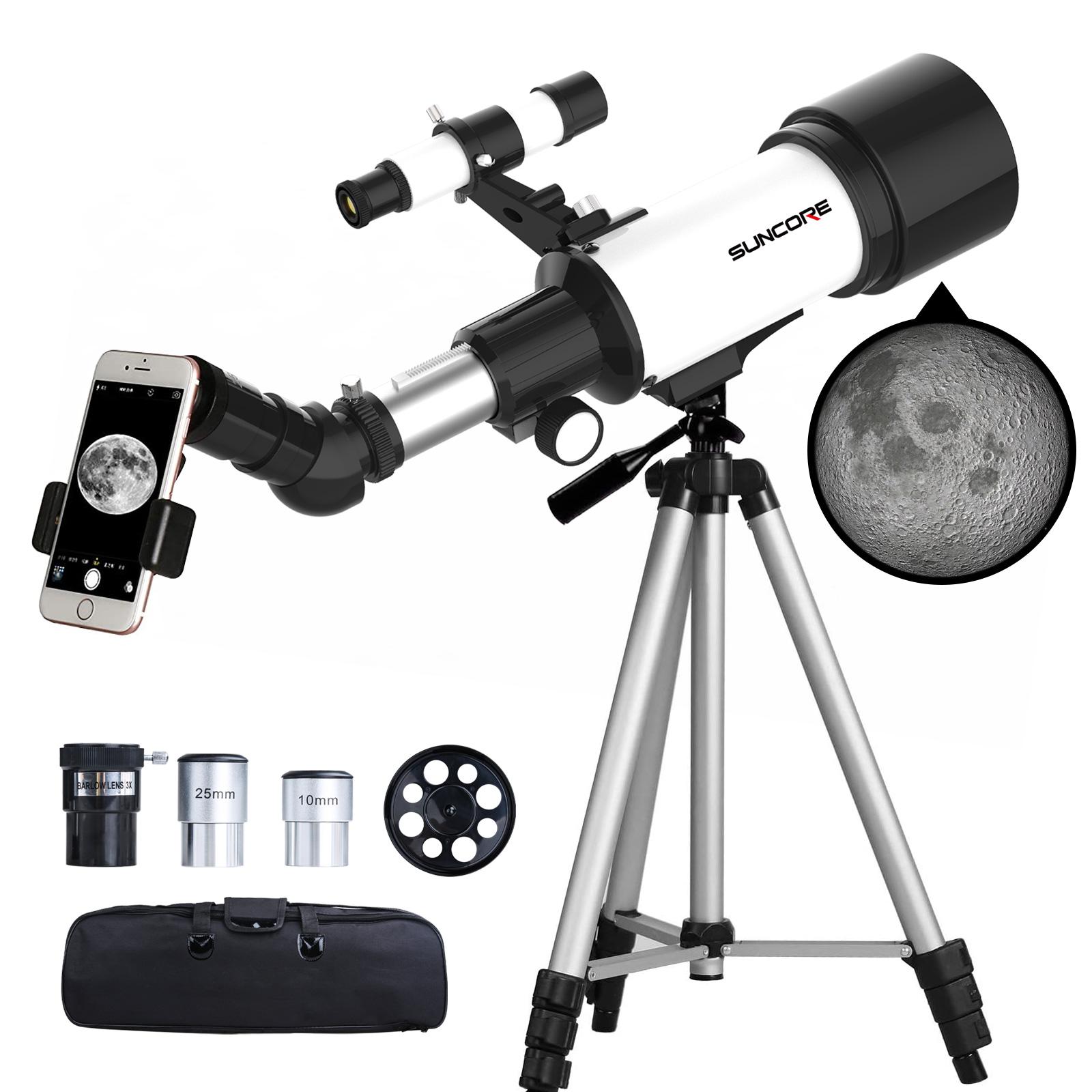 SUNCORE舜光 天文望远镜70400 高清大倍率 可替换镜头切换倍率